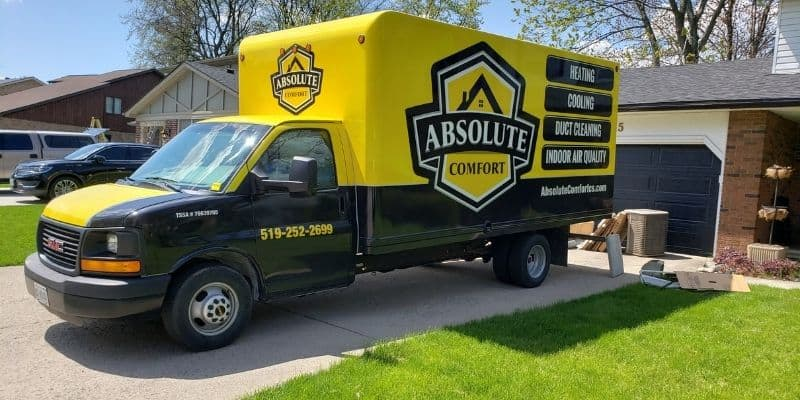 absolute comfort truck at windsor home