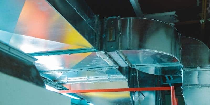 custom ductwork in manufacturing facility